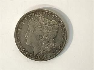 1887 O Mint U.S. Morgan Silver Dollar