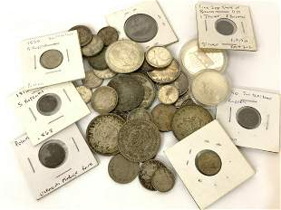 Estate Compiled Collection Foreign Silver Currency