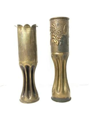 Two (2) Piece WWI Trench Art