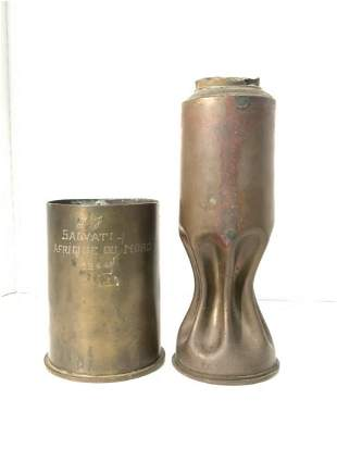 Two (2) Piece WWII Trench Art
