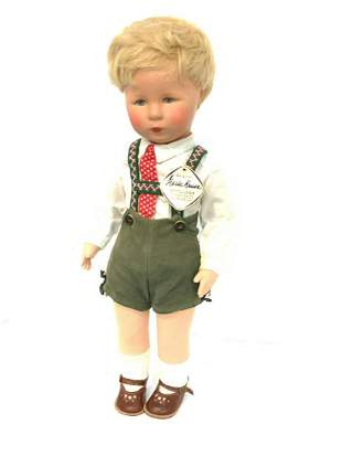 "Vintage Kathe Kruse 18"" Boy Doll"