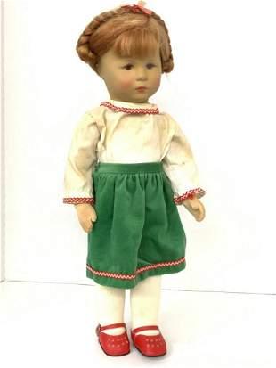 "Vintage Kathe Kruse 18"" Girl Doll"