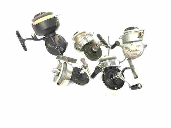 Lot of Five (5) Vintage Airex Fishing Reels
