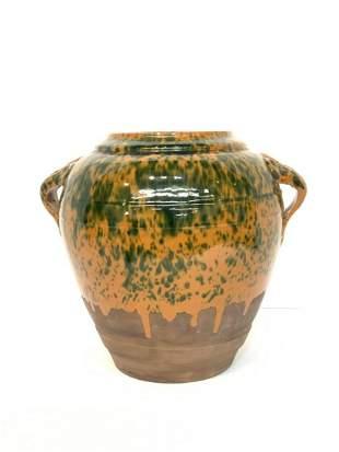 Double Handled American Earthenware Vase