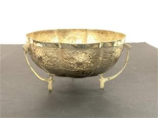Vintage Mexican Sterling Silver Footed Bowl