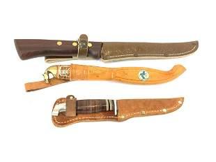 Lot of 3 Vintage Hunting Knives