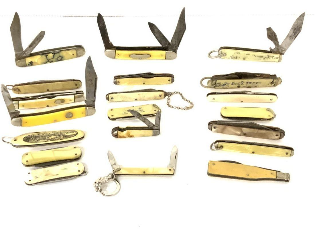 Lot of 20 Vintage Pocket Knives