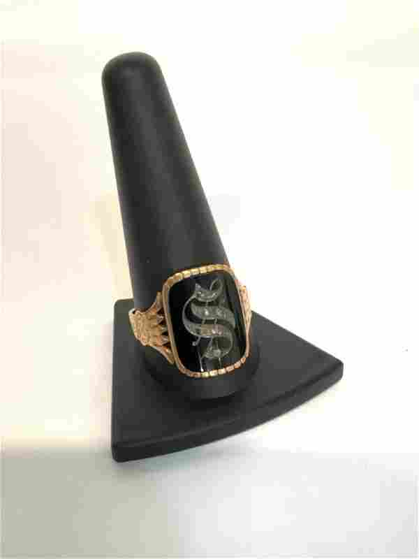 1885 Size 10 14K Gold Men's Insignia Ring