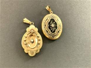 Two (2) Victorian Gold Lockets