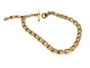 c. 1886 Victorian Watch Fob Chain 10k Gold