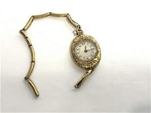 Lady's 15J 14K Gold Wristwatch