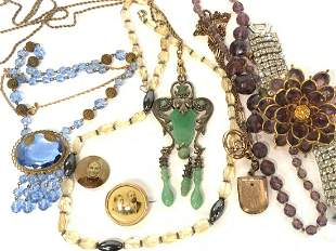 Estate Antique And Vintage Costume Jewelry Group