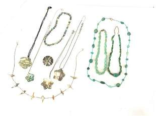 Lot of Vintage Turquoise and Abalone Jewelry
