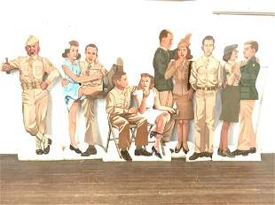 U.S. Army WWII STYLE STAGE PROPS LIFE SIZE USO DANCE!