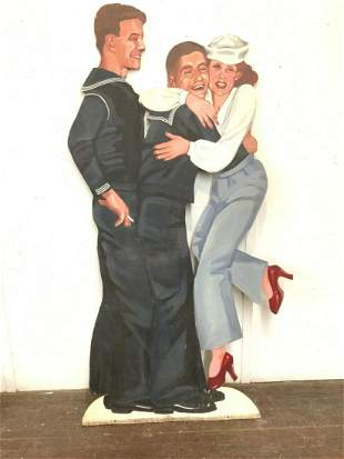 USO U.S. NAVY Sailor's WWII LIFE SIZE PROPS