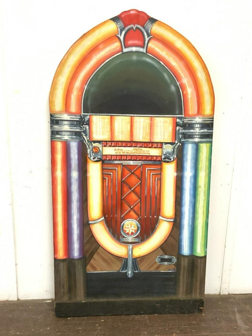 Juke Box Oil On Canvas Painting, True To Size!