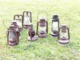 Eight (8) Piece Barn Found Lanterns