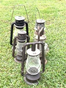 Five (5) Piece Barn Found Lanterns