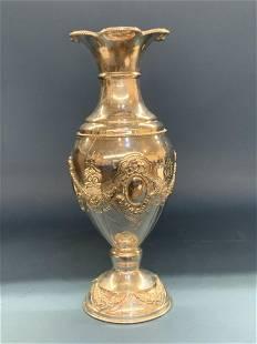 Shiluvim .999 Pure Sterling Silver Judaica Vase