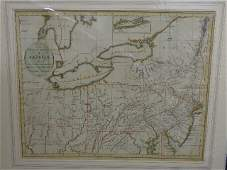 Map of Middle States of America John C. Rufsell 1794