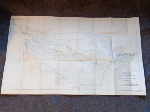 Map of Gila River Indian Reservations and CASA Grande