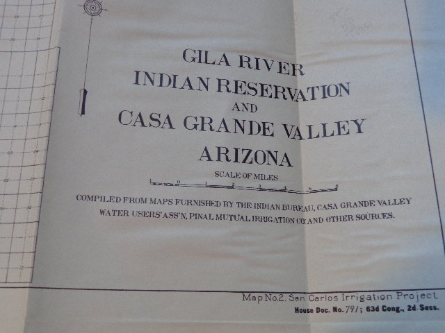 Map of Gila River Indian Reservations and CASA Grande - 2