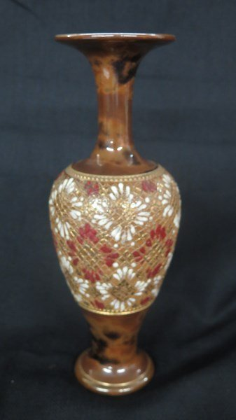 "Royal Doulton Stoneware Decorated Vase ""Doulton Slater"