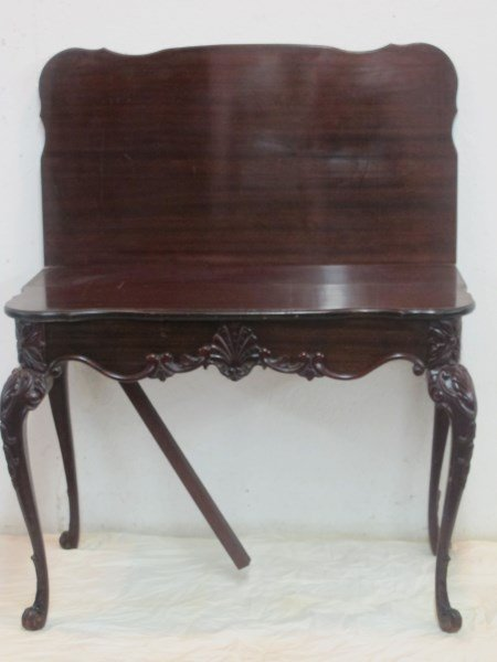20th Century Carved Mahogany Game Table
