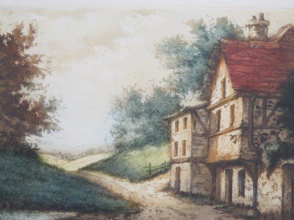 """Rene Ludovic Raffray 1896-1975 """"Untitled (House)"""" - 2"""
