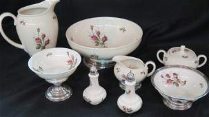 Rosenthal China with Sterling Trim - Eight pieces