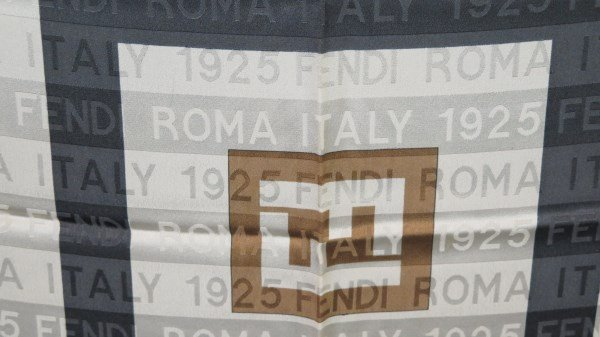 Fendi 1925 ROMA ITALY Pattern Designer Silk Scarf - 3