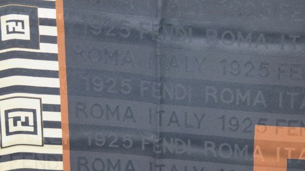 Fendi 1925 ROMA ITALY Pattern Designer Silk Scarf - 2