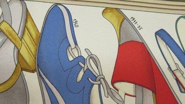 Salvatore Ferragamo Designer Shoe Print Silk Scarf - 3