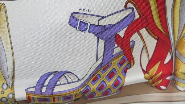 Salvatore Ferragamo Designer Shoe Print Silk Scarf - 4