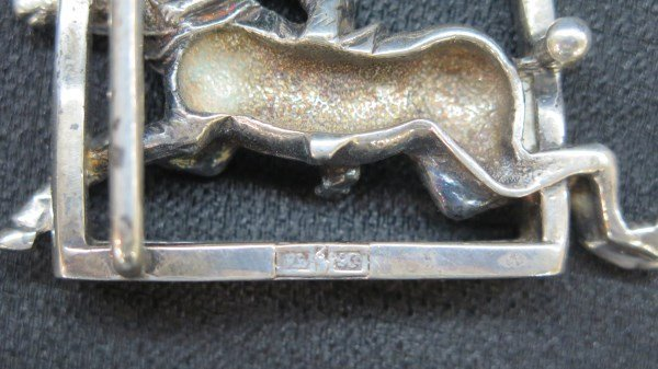 Ralph Lauren Solid Sterling Silver Polo Belt Buckle - 3