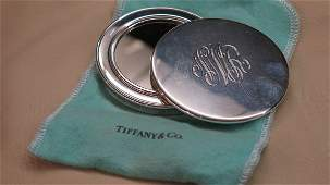 Tiffany  co Sterling Silver Compact Mirror c 2001