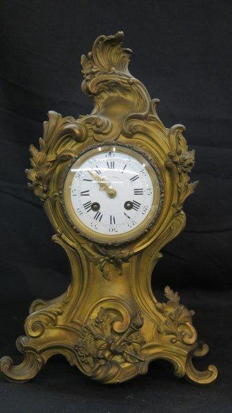 Ad Mougin Deux Medailles Louis XV French Clock