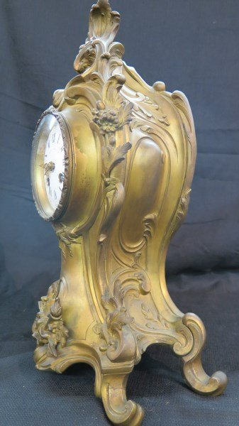 Ad Mougin Deux Medailles Louis XV French Clock - 4