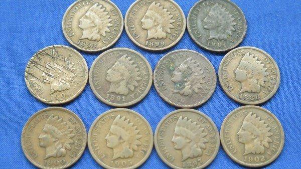 11 Indian Head Pennies