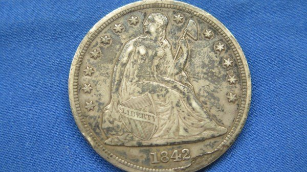 1842 U.S. Seated Liberty Silver Dollar