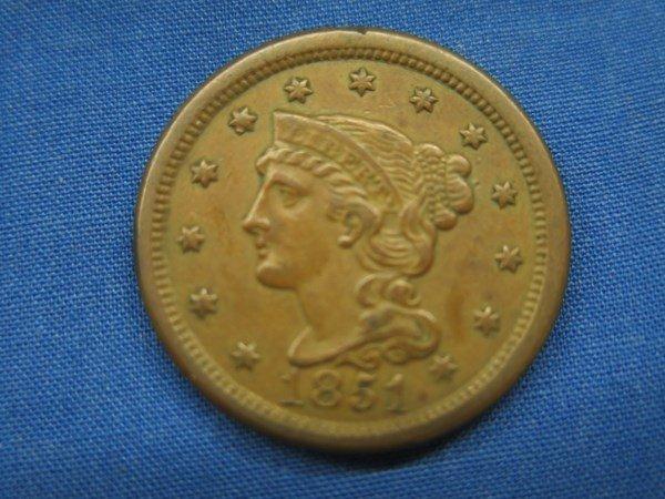 1851 U.S. Braided Hair Cent