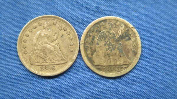 2 Seated Liberty U.S. Half Dimes