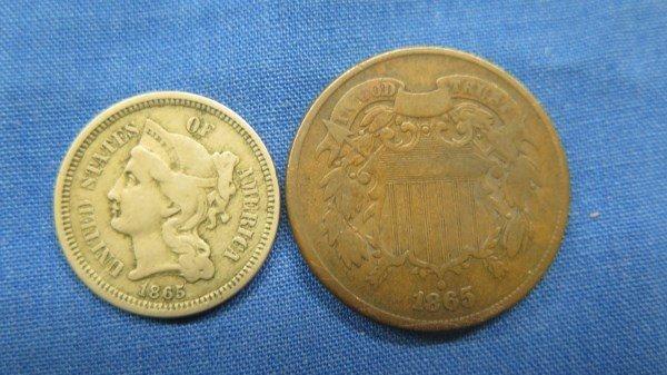 1865 3 Cent U.S. ....... 1865 2 Cent U.S.