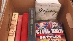 Box Lot of Books - Mixed including Civil War Books, etc