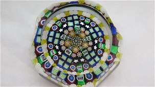 Fine Perthshire Faceted Glass Paperweight