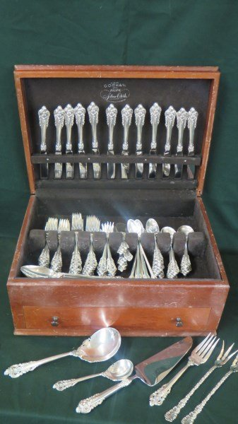 """105 pc. Wallace """"Baroque"""" Sterling Silver Service"""
