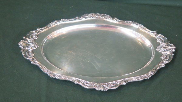 """Wallace """"Grand Baroque"""" Silver plated Serving Platter"""