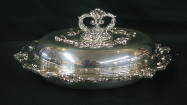 Georgian Style Silver Plated Chafing Dish