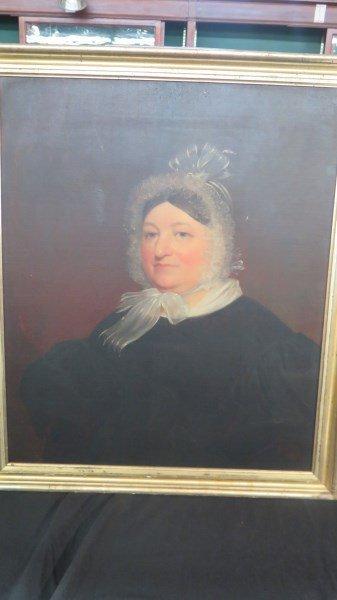 c.1790 American New Jersey Portrait of Mrs. Rollinson