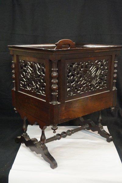 19th Century Rosewood Canterbury